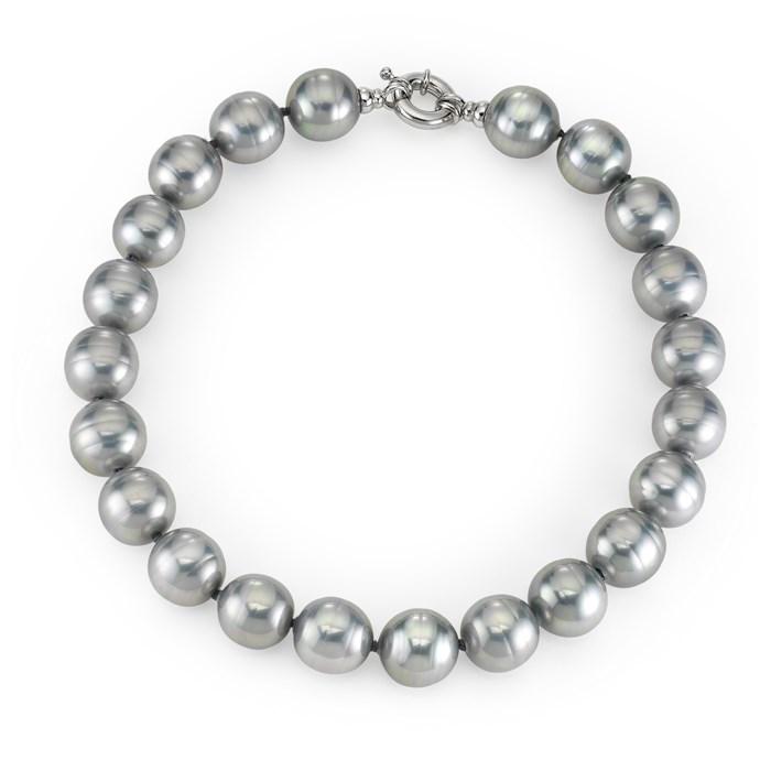Grey Baroque Pearl Necklace Sterling Silver Joia De Majorca